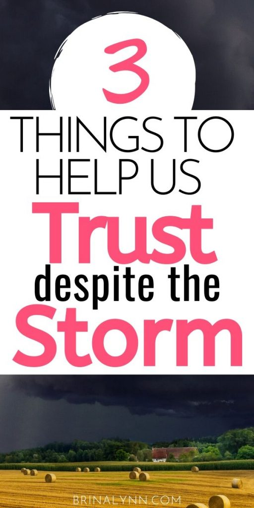 3 Things to help us trust despite the storm