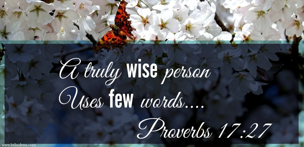 A truly wise person uses few words....