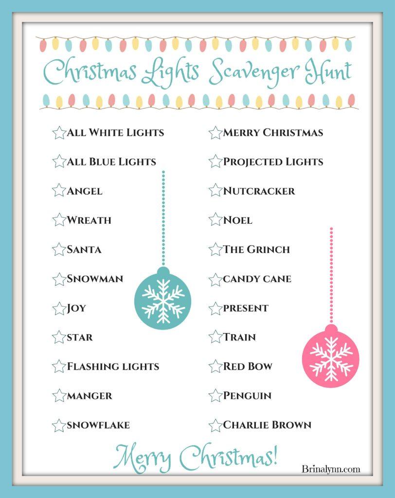 Christmas Lights Scavenger Hunt frame