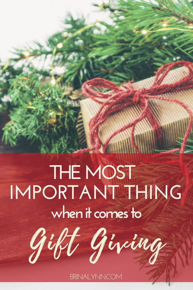 The Most Important Thing About Gift Giving