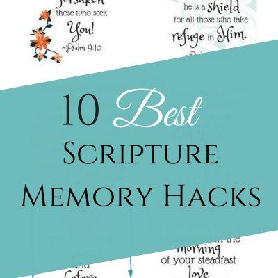 10+ of the Best Scripture Memory Hacks