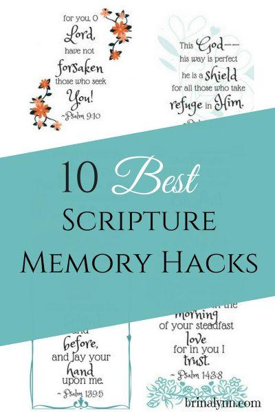 10 of the Best Scripture Memory Hacks