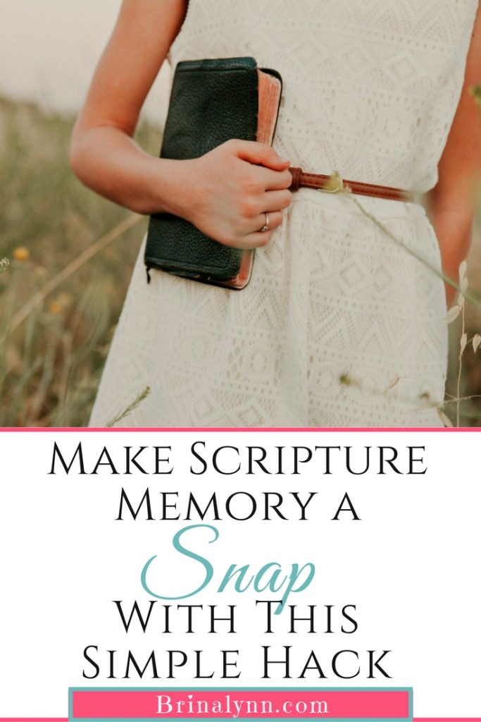 Make Scripture Memory a Snap with This Simple Hack