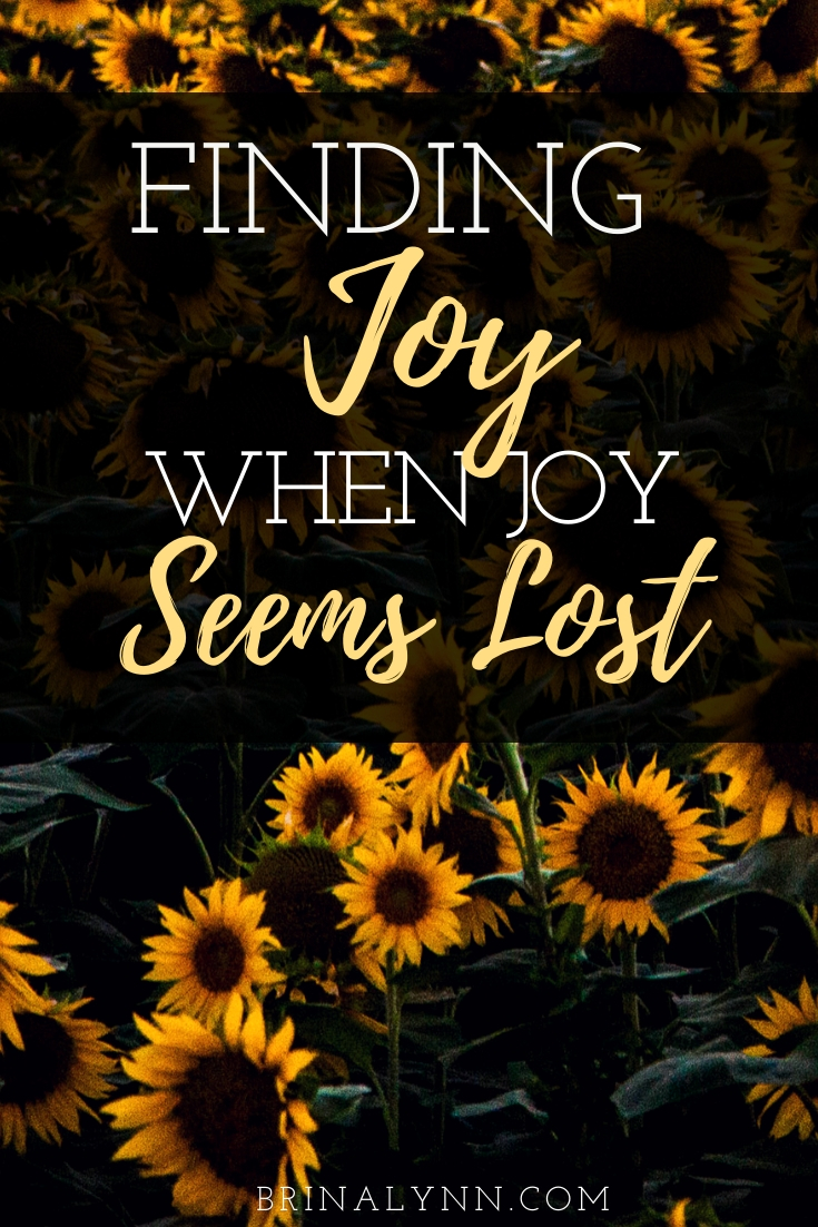 Finding joy in the trenches. Finding joy when joy seems lost.