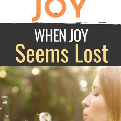 Finding Joy When Joy Seems Lost