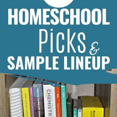 Top Homeschool Picks & A Sample Line-up