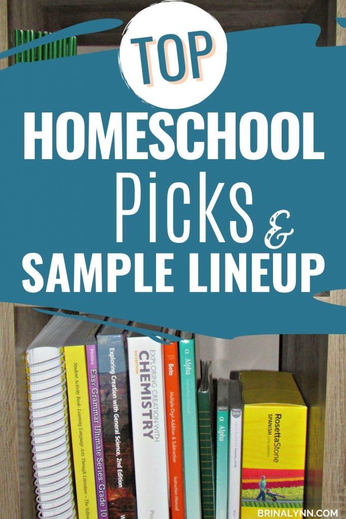 Top Homeschool Picks & a Sample Lineup